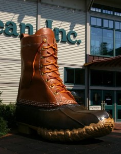 LL Bean giant boot in front of store