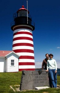 Here we are at West Quoddy Head lighthouse - the Easternmost point in the USA