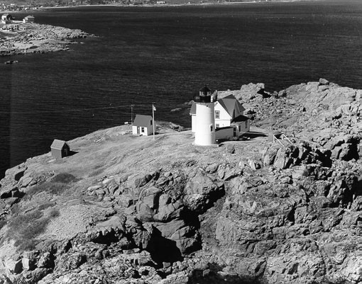 Cape Neddick Lighthouse (the Nubble) from the air