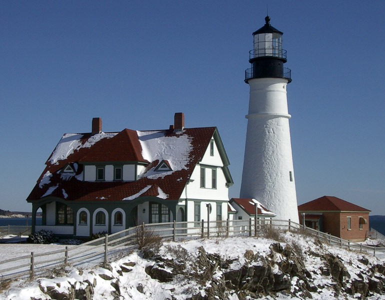 Brilliant Winter The Perfect Time To Visit Maine Lighthouses Download Free Architecture Designs Rallybritishbridgeorg