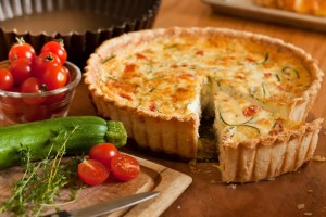 Bacon-Zucchini Deep Dish Quiche