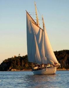 Wendameen, an antique schooner in Maine