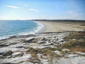 Scenic Maine beach