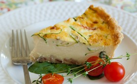 quiche and vegetables