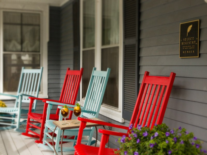 porch and rocking chairs