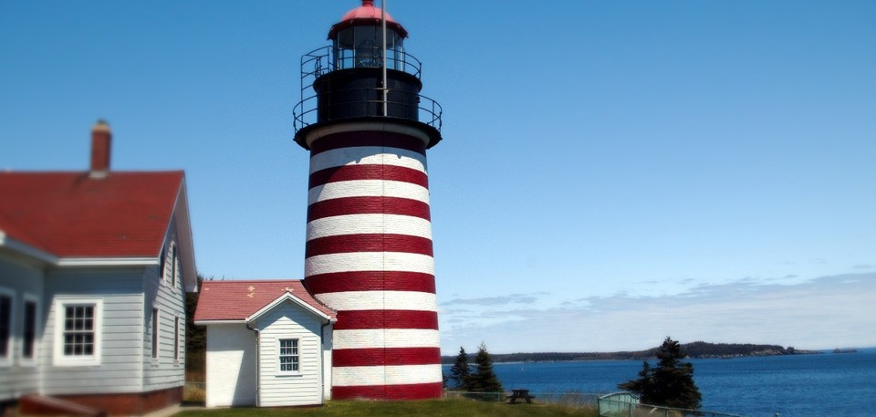 Maine Lighthouses Map Tours More Brewster House