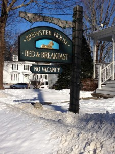 Wood Carved Signage for Brewster House Bed & Breakfast by TJ McDermott