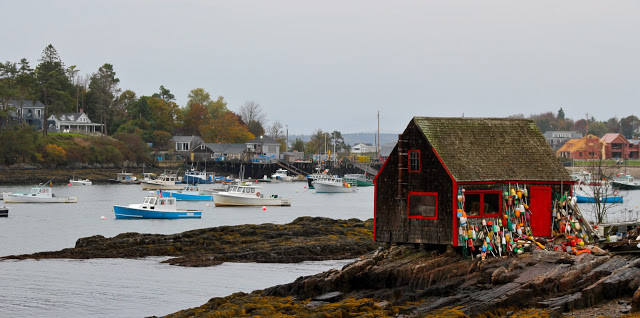 Lobster boats in Harpswell Maine