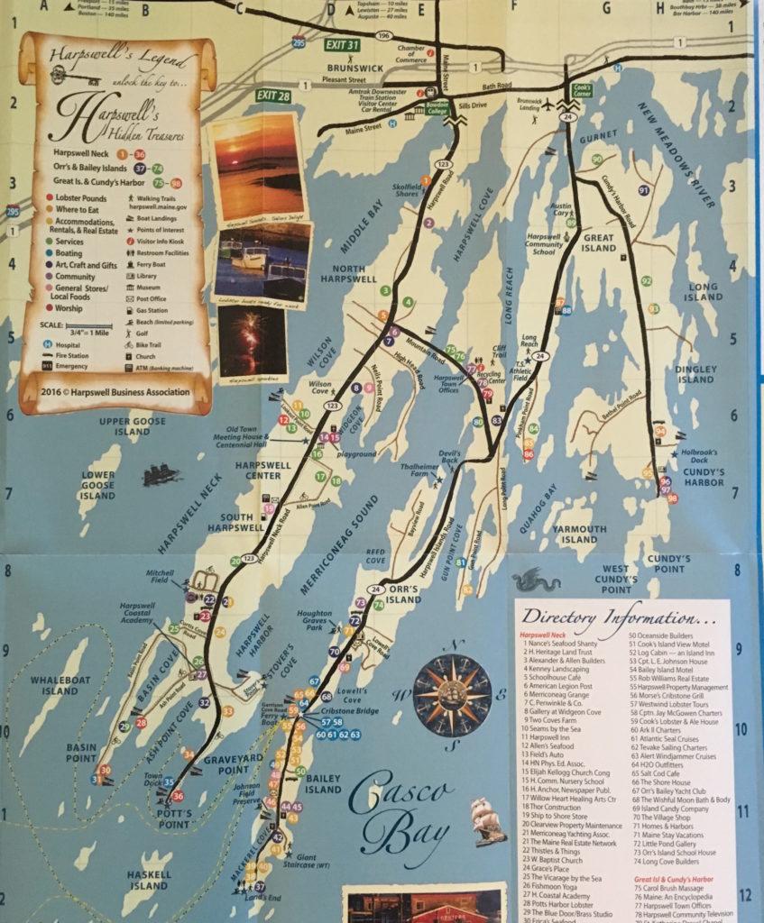 Tourist map of Harpswell Maine
