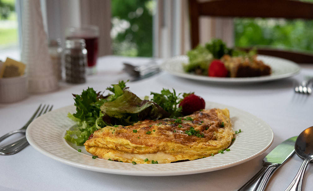Omelette with Local Greens