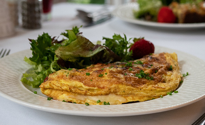 Omlettes with local greens