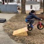 Our son Ben performing bike jump