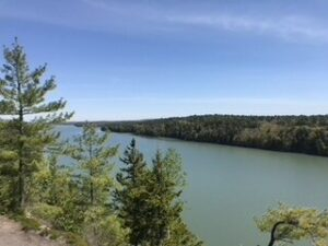 View from Overlook at top of CliffTrail in harpswell