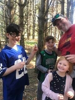 Dave & kids geo-caching