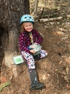Our daughter Ruby enjoying GeoCaching