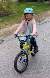 Our daughter Ruby on her bike!