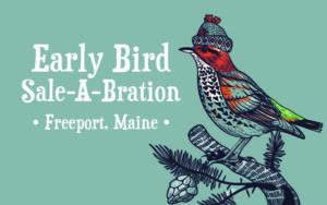 Freeport Maine Early Bird Sale LOGO